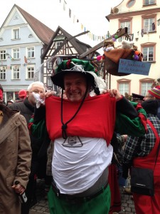 Radio Woking in Europe! Cousin Jurgen wore his 'Crossing The Tracks' T shirt during this year's parade!