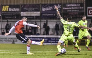 Joe Quigley grabs his goal on his home debut