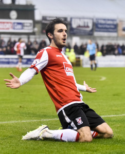 Goddard celebrates his 13th of the season.