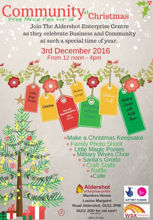 Community Christmas Festival at Aldershot Enterprise Centre
