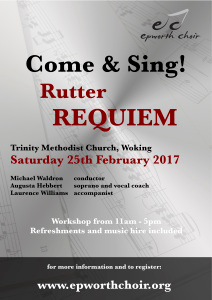 Come & Sing Rutter Requiem @ Trinity Church