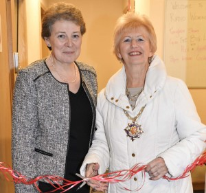 Headteacher Mrs Johnson-Walker & The Mayor